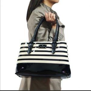 Kate Spade Black and White Carlisle Street Bag
